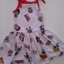 0503- Vestido LOL - Tam 3 - 3 anos - Kids