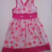 0505- Vestido coração - Tam 6 - 6 anos - Kids