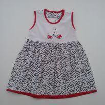 0524- Vestido Oncinha - em Malha - Tamanho 2 - 1 ano - Fofinho