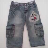 0180 - Calça Jeans Mickey - Tam 2 - 2 anos - Disney