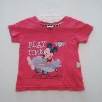 0021 - Camiseta Mickey - Tam P - 3 meses - Disney baby