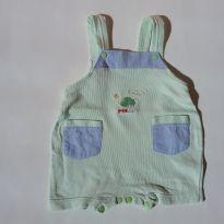 0433 - jardineira Menino - Tam 3 a 6 meses - (Usadinho) - 3 a 6 meses - Baby