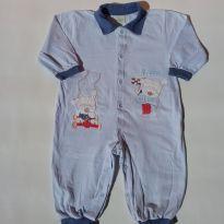 Macacão sem pé - Tecido Malha - (Usadinho) - Tam G - 6 meses - Smoby Baby