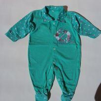 Macacão com pé - Tecido Malha - Tam P - 0 a 3 meses - Baby