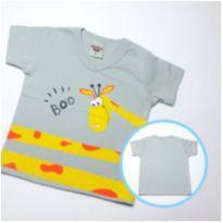 Camiseta Girafinha - Tam M - 3 a 6 meses - PIMENTINHA KIDS