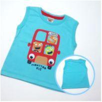 Camiseta Monster Bus - Tam G - 3 a 6 meses - PIMENTINHA KIDS
