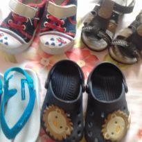 Lotinho de sandálias, chinelos e tênis. - 21 - Variadas