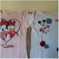 Duas camisetinhas para adolescente - 14 anos - Disney e Pernambucanas