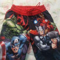 shorts vingadores - 6 anos - MARVEL