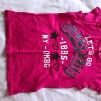Camiseta pink cheia de detalhes - 5 anos - OshKosh