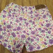 Shorts com flores lilás - 2 anos - Mimo & co