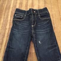 Calça jeans com lavagem e detalhe no bolso traseiro - 2 anos - Tommy Hilfiger