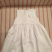 Vestido branco da Trousseau lindo e pode ser usado em batizado - 3 meses - Trousseau