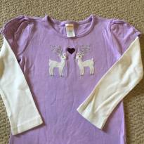 Camiseta lilás manga longa - 4 anos - Gymboree
