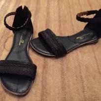 Sandália preta com brilhos tamanho 30 - 30 - Ludique et Badin