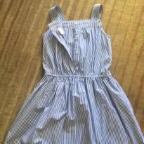 Vestido de listras azul claro da Carters, bem levinho - 6 anos - Carter`s
