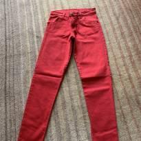 Calça jeans vermelha - 10 anos - Crayon