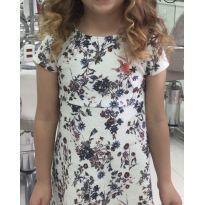 Vestido Zara com estampa floral e fundo offwhite - 8 anos - Zara