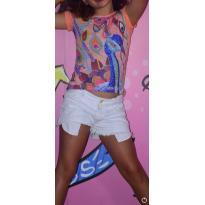 Camiseta bordada linda - 7 anos - Camu