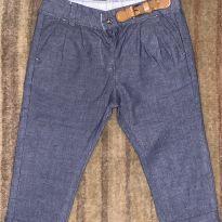 Calça de jeans fininho e detalhe na cintura - 12 a 18 meses - Zara