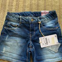 Shorts jeans estonado novo - 4 anos - Zara