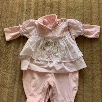 Macacão de plush rosa claro - 3 a 6 meses - ZigMundi
