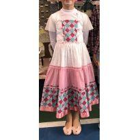Vestido de festa junina - noiva - 10 anos - Marca não registrada