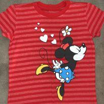 Camiseta vermelha original da Minnie e Mickey - 7 anos - Disney