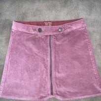 Saia de veludo Zara cor rosa antigo - 10 anos - Zara