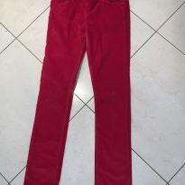 Calça de plush vermelho vivo - 12 anos - okaidi