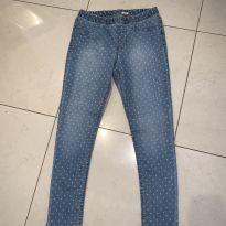 Calça jeans fininha com poá - 12 anos - OshKosh