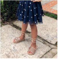 Sandália estrelas cor dourado rosê - 35 - Marca não registrada