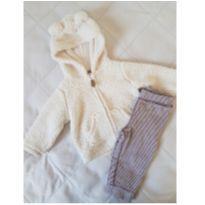Conjunto Casaco e calça Sherpa Carter`s - 6 a 9 meses - Carter`s
