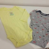 Kit com 2 bodies carters para menino - 6 meses - Carter`s