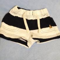 18A - Shorts baby GAP azul marinho e branco - 0 a 3 meses - Baby Gap