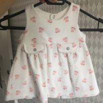 Vestido de Plush raposinha - 0 a 3 meses - Sem marca