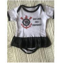 Body Corinthiana linda - 0 a 3 meses - Corinthians oficial e réplica Corinthians