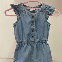 Macaquinho Jeans - 0 a 3 meses - C&A