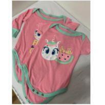 2 Bodys Puket Unicórnio pijama - 3 meses - Puket