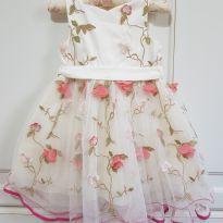 Vestido Flores Bordado Petit Cherie Festa Tamanho 2 - 2 anos - Petit Cherie