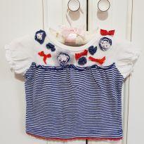 Blusa Camiseta Menina Lilica Ripilica Tamanho MB - 3 a 6 meses - Lilica Ripilica e Lilica Ripilica Baby