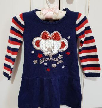 Vestido Tricô Manga Longa Lilica Ripilica Tamanho MB - 6 meses - Lilica Ripilica e Lilica Ripilica Baby