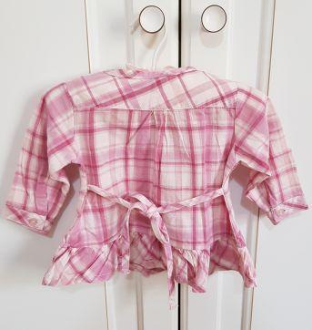 Camisa Xadrez Manga Longa Tip Top Tamanho P - 3 meses - Tip Top