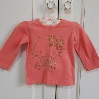 Camiseta Blusa Manga Longa Hello Kitty Tamanho M - 6 a 9 meses - Hello Kitty by Sanrio e Hello  Kitty