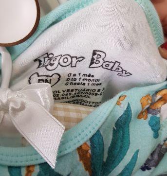 Body Manga Longa Tigor T. Tigre Baby RN - Recém Nascido - Tigor Baby e Tigor T.  Tigre