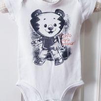 Body Manga Curta Tigor T. Tigre Baby RN - Recém Nascido - Tigor T.  Tigre e Tigor Baby