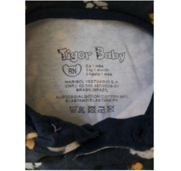 Body Gola Polo Manga Curta Tigor T. Tigre Tamanho RN - Recém Nascido - Tigor T.  Tigre e Tigor Baby