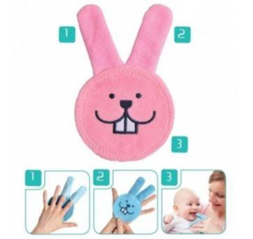 Luva para Cuidado Oral do Bebê (Oral Care Rabbit) 0+meses Rosa - MAM - Sem faixa etaria - MAM