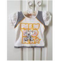 Camiseta Lilica Ripilica New York Tamanho 1P - 1 - 12 a 18 meses - Lilica Ripilica e Lilica Ripilica Baby