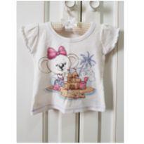 Camiseta Lilica Ripilica Castelo de Areia Tamanho PB - P - 3 a 6 meses - Lilica Ripilica e Lilica Ripilica Baby